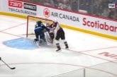 Video: Avalanche-vahti Pavel Francouz loukkaantui rajussa törmäyksessä - debytantti paikkasi nollapelillä