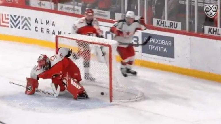 Video: Kirill Kaprizov teki hävyttömän häkin KHL:ssä – kiekko pesään maalin takaa