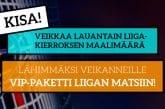 KISA! - Veikkaa lauantain maalimäärä Liigassa ja voita VIP-setti matsiin!