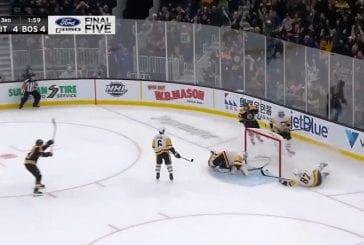 Video: Brad Marchand ampui voittomaalin tolpan ja selän kautta - Sidney Crosbyn pelastussyöksy ei riittänyt