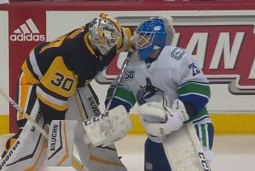 Video: Upeaa urheiluhenkeä - Canucks-vahti Jacob Markström menetti isänsä, vastustaja kävi tsemppaamassa