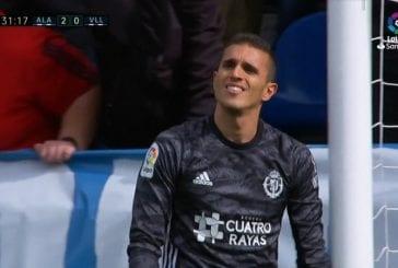 Video: Valladolid-veskari Jordi Masip räpelsi pahasti - pudotti pallon huippupaikkaan