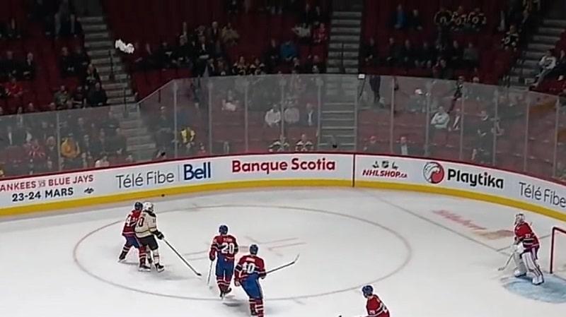 Video: Bostonin antama läksytys oli liikaa – Montreal-fani heitti pyyhkeen kehään