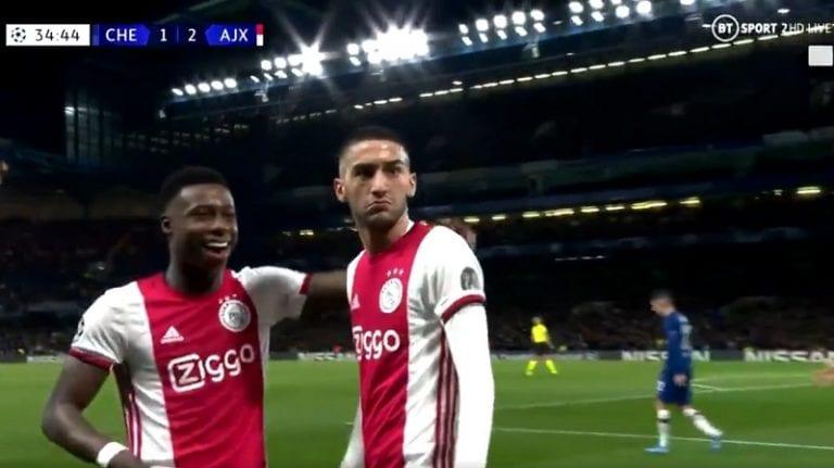 Video: Ajaxin Hakim Ziyech pamautti aivan järjettömän vaparin Mestarien liigassa