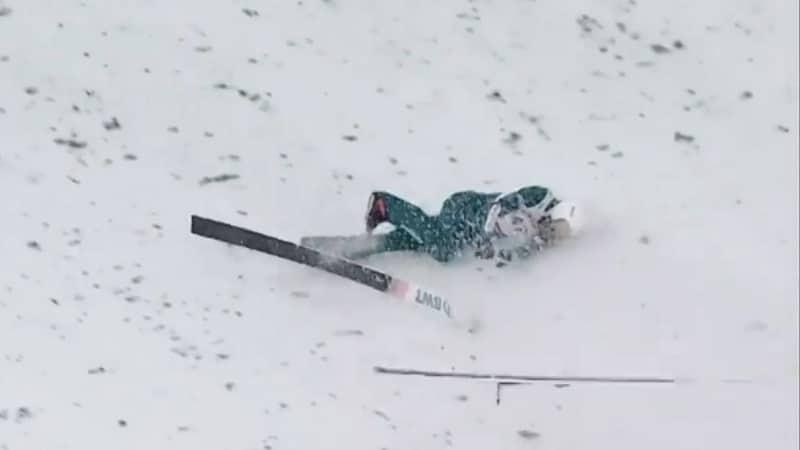 Video: Raju kaatuminen mäkihypyn maailmancupissa – Piotr Zyla löi päänsä alastulossa