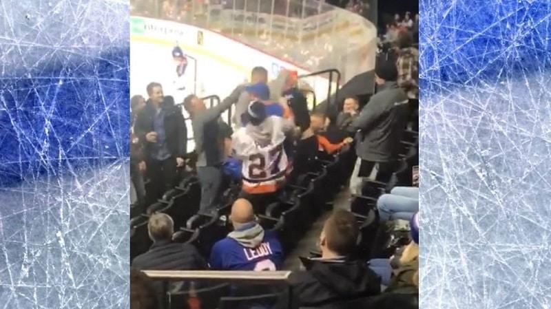 Video: Hurja tappelu puhkesi NHL-katsomossa – Islanders-fanit mäiskivät toisiaan kunnolla