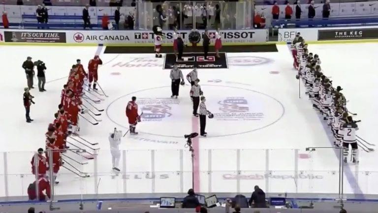 Video: Kanadan kapteeni käyttäytyi ala-arvoisesti loppuseremoniassa – Venäjän pelaajat kostivat tylyllä tavalla