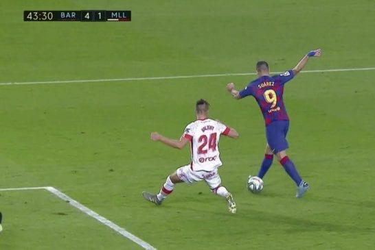 Video: Luis Suarez iski suorastaan sairaan kantapäämaalin La Ligassa