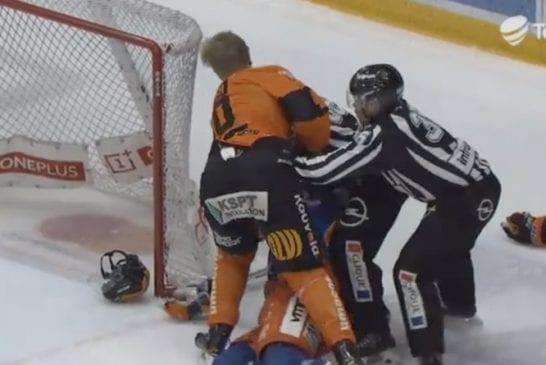 Video: KooKoon Martin Berger tappeli ja näytti keskaria katsomoon – nappasi 50 minuutin edestä jäähyminuutteja