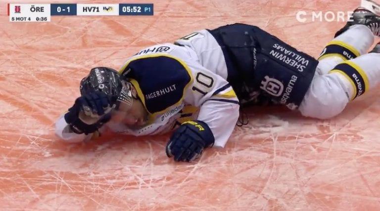 """Video: Ruotsin SHL:ssä nähtiin sikamainen niitti – """"Vuoden rumin taklaus"""""""