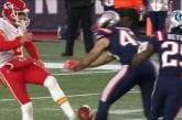 Video: Patriotsin Nate Ebner peitti lentopotkun sukukalleuksillaan