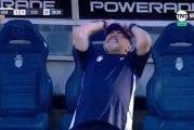 Video: Hukattu maalipaikka meni tunteisiin - Diego Maradona kellahti kumoon kesken rähjäämisen