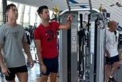 Video: Cristiano Ronaldo opetti Novak Djokovicille hyppäämisen saloja