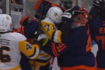 Video: Edmonton-veskari kävi Jevgeni Malkinin kimppuun ja käynnisti härdellin