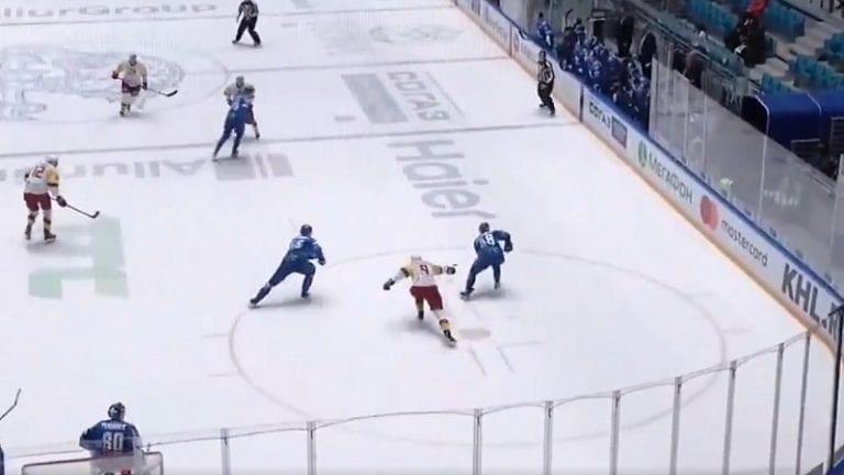 Video: Barys-hyökkääjä taituroi upeasti KHL:ssä – coast-to-coast -soolo lähti oman maalin takaa