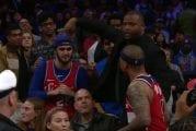 Video: NBA-pelaaja meni törkeyksiä huudelleen fanin luo ja sai ulosajon - taustalla ravintolan mainoskampanja