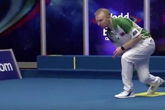 Video: Bowlsin MM-kisoissa nähtiin täysin käsittämätön taidonnäyte