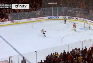 Video: NHL:ssä uskomatonta komiikkaa - Brad Marchand pupelsi ratkaisevassa rankkarissa