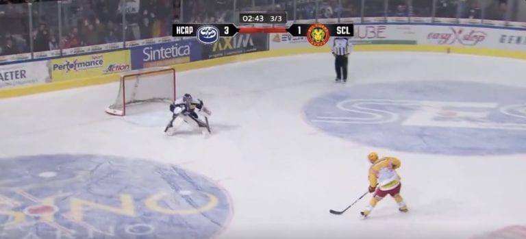 Video: Harri Pesonen iski hävyttömän rankkarimaalin Sveitsin NLA-liigassa