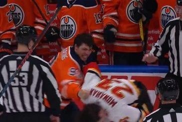 Video: Flames ja Oilers pistivät jälleen nyrkit heilumaan - jopa taitopelaajat myllyttivät