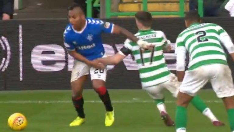 Video: Celtic-pelaaja joutuu kuultavaksi – tarttui Rangersin Alfredo Morelosin kiveksiin