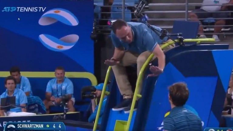 Video: Daniil Medvedev kimmastui tuomioista ATP-turnauksessa – mäiski mailallaan tuomarin tuolia