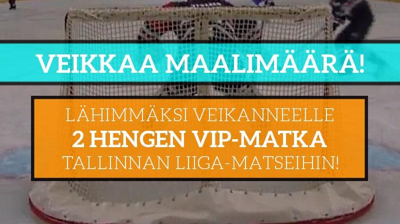 KISA! – Veikkaa lauantain maalimäärä Liigassa ja voita VIP-setti Tallinnan Liiga-matseihin!