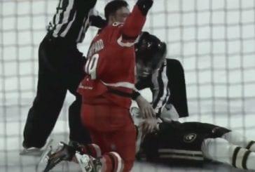 Video: AHL-tappelu sai järkyttävän lopun – tyrmätty pelaaja vietiin paareilla kaukalosta