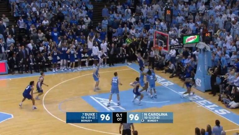 Video: Duke University teki täysin älyttömän viimeisen sekunnin voittokorin