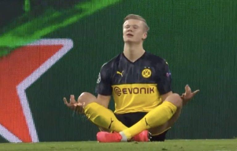 Video: Erling Håland ei ole pysäytettävissä – laukoi upean voittomaalin PSG:n verkkoon