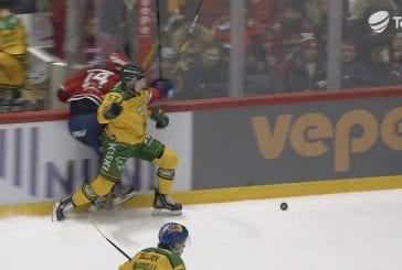 Video: Ilves-puolustaja jysäytti hurjan taklauksen – HIFK:n Teemu Engberg lensi rajusti pleksin reunaan