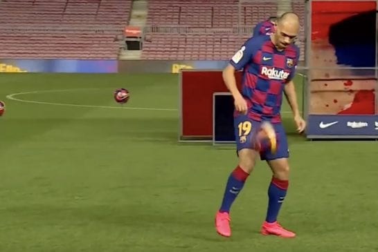 Video: Barcelonan uudella hankinnalla Martin Braithwaitella on vielä vähän hiomista – kikat menivät nolosti vihkoon esittelytilaisuudessa