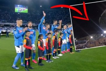 Video: UCL-hymni Napolin stadionin ulkopuolelta kuultuna - yleisön