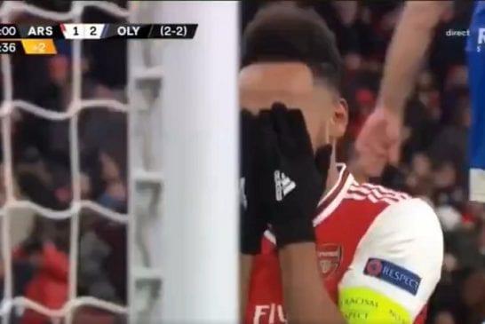 Video: Pierre-Emerick Aubameyang pupelsi avopaikan viime hetkillä - Arsenal putosi Eurooppa-liigasta