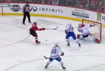 Video: Uskomaton säkä - Devilsin Jesper Bratt ampui kiekosta ohi ja teki maalin