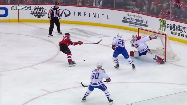 Video: Uskomaton säkä – Devilsin Jesper Bratt ampui kiekosta ohi ja teki maalin