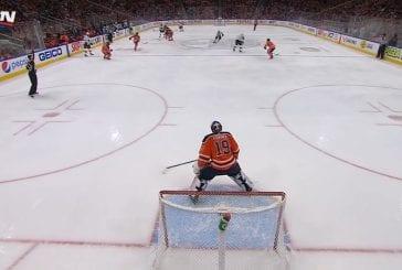 Video: Oilersin Mikko Koskinen menetti mailansa - pakki antoi omansa ja sai jäähyn