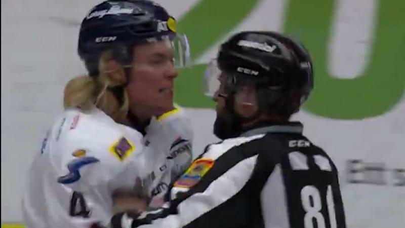 Video: Sam Lofquist sai 5 ottelun pelikiellon tuomarin koskemattomuuden loukkaamisesta