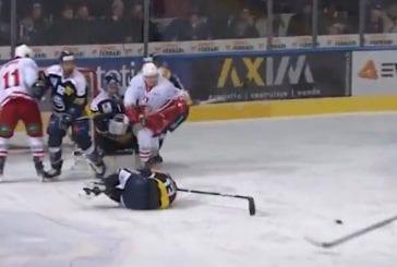 Video: Väärä aika, väärä paikka - NLA-pelaaja sai kahdesti kiekon päähänsä kolmen sekunnin aikana