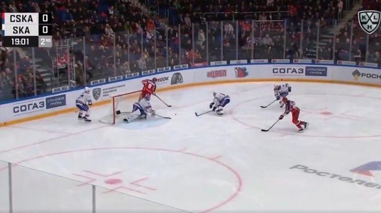 Video: CSKA namutteli häikäisevän maalin KHL:ssä – kaksi no-look -syöttöä sai SKA:n sekaisin
