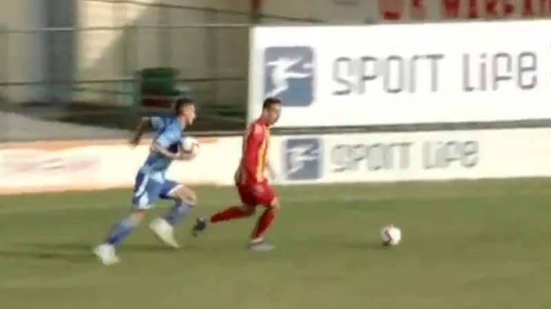 Video: Hämmentävä tempaus Pohjois-Makedonian liigassa – pelaaja vesitti vastustajan hyökkäyksen toisella pallolla