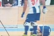 Video: Rullaluistinhockey-pelaaja sukelsi hävyttömästi Portugalin liigassa