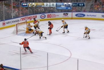 Video: Oilersin kiri käynnistyi melkoisella flipperipompulla - Nashvillen Kyle Turris teki oman maalin