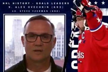 Video: Steve Yzerman heitti hersyvän kuitin onnitellessaan Alexander Ovechkinia -