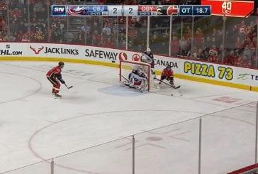 Video: Joonas Korpisalo venyi huikeaan pelastukseen jatkoajalla - Calgary maalasi kuitenkin vain hetkeä myöhemmin