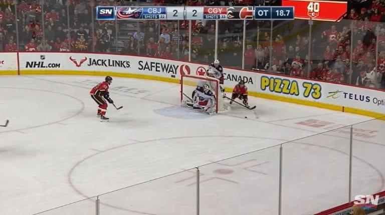 Video: Joonas Korpisalo venyi huikeaan pelastukseen jatkoajalla – Calgary maalasi kuitenkin vain hetkeä myöhemmin