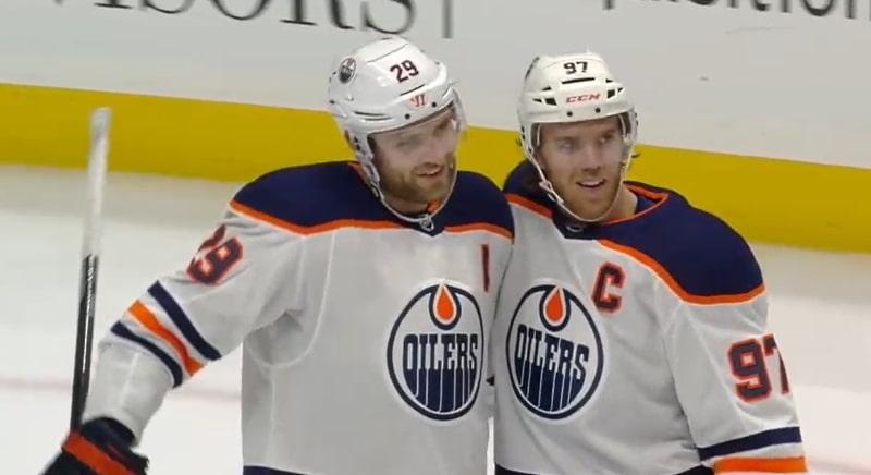 Leon Draisaitl Edmonton Connor McDavid NHL - Pallomeri.net