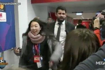 Video: Atlético Madridin Diego Costalta nähtiin idioottimaista käytöstä – yski toimittajien naamalle ottelun jälkeen