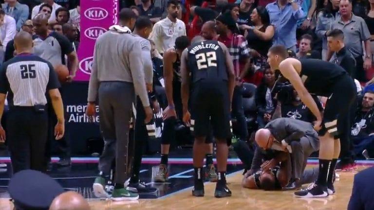 Video: Bucks-pelaaja sai ikävän yllätyksen puolustaessaan – heittävä vastustaja jysäytti säkeille