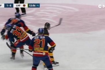 Video: SHL:ssä harvinaisempi päähän kohdistunut taklaus - Djurgården-pakki veti oman pelaajan kylmäksi